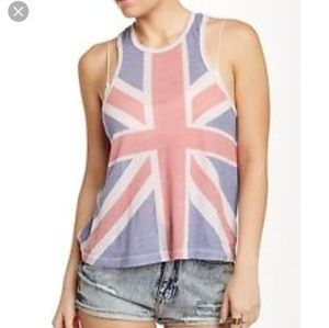 Wildfox This Is English British Flag Tank Top S